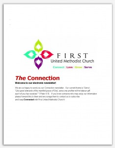 FUMC Connection Newsletter cover